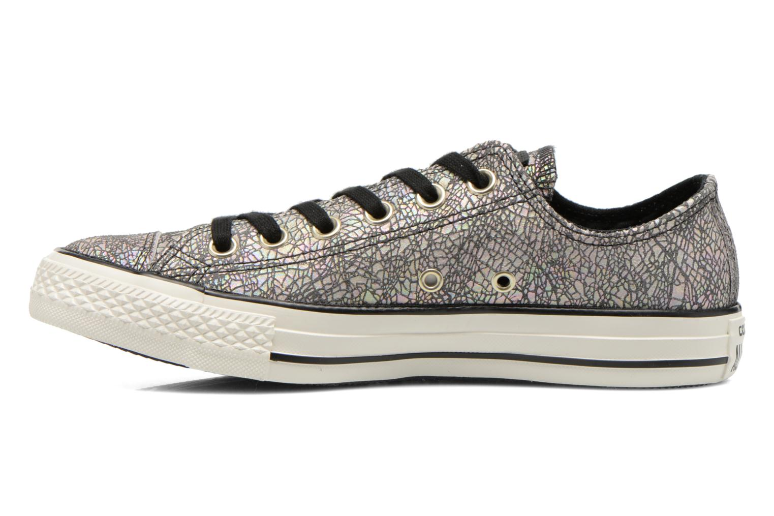 Baskets Converse Chuck Taylor All Star Ox Oil Slick Leather W Argent vue face