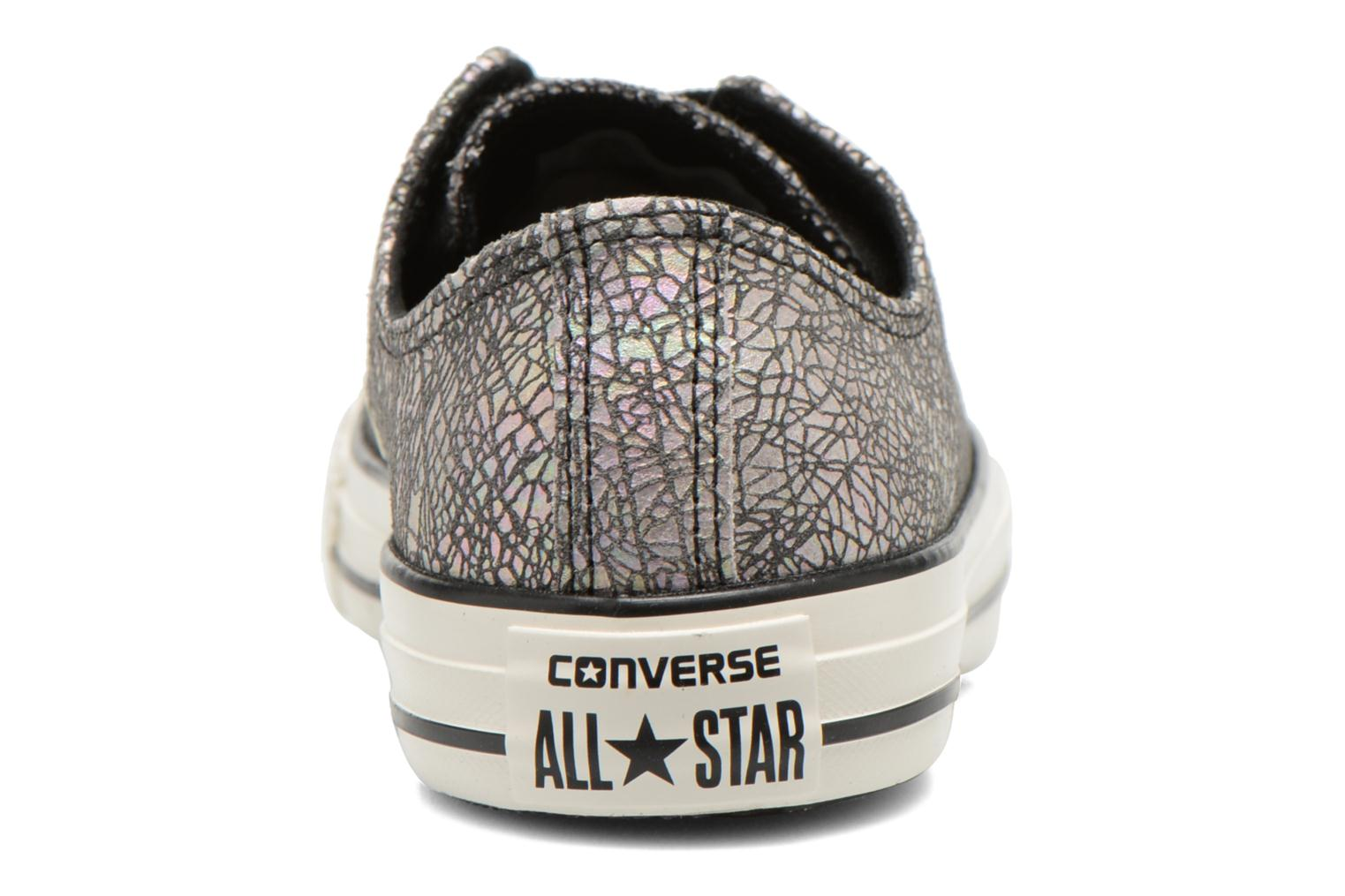 Baskets Converse Chuck Taylor All Star Ox Oil Slick Leather W Argent vue droite