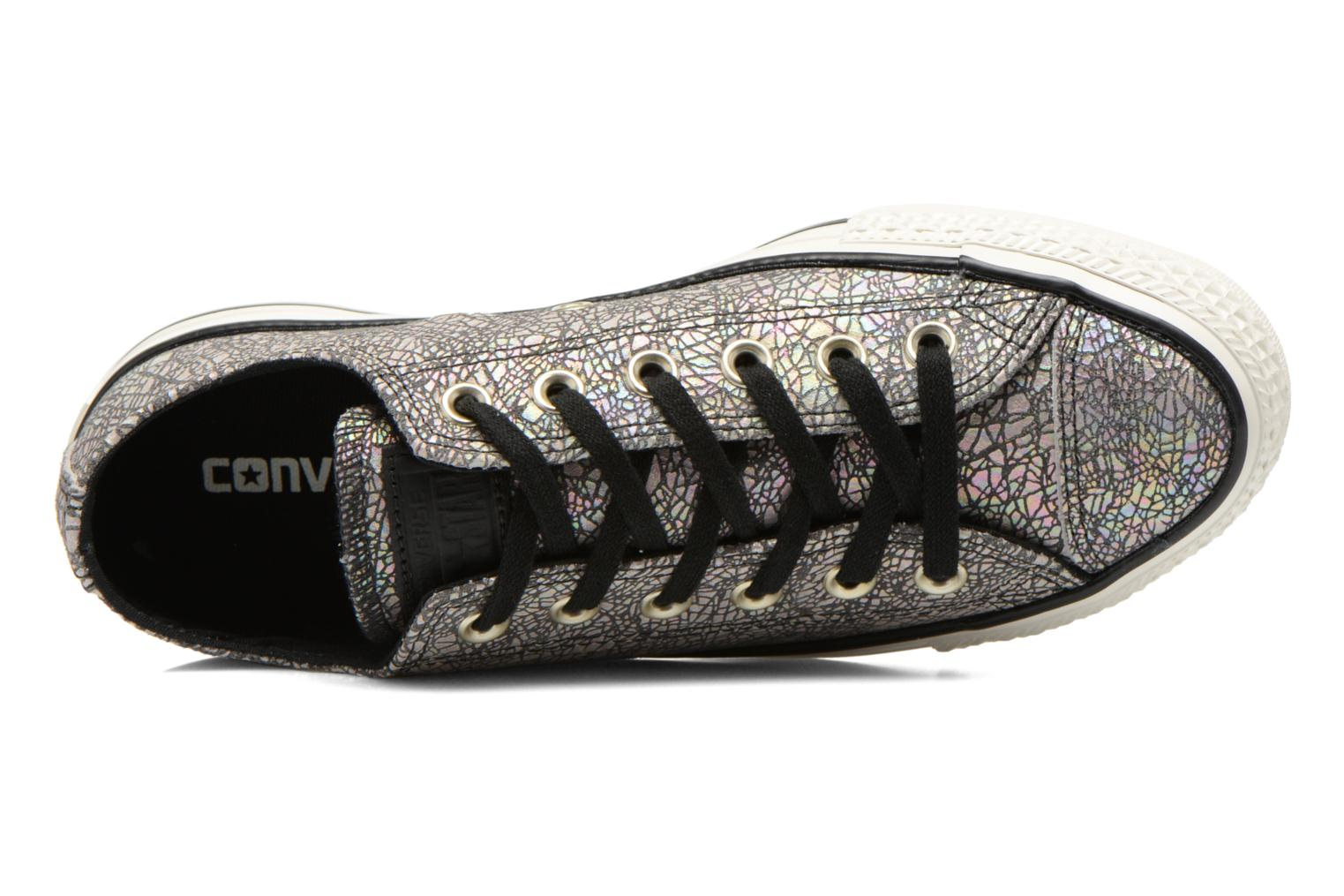 Sneaker Converse Chuck Taylor All Star Ox Oil Slick Leather W silber ansicht von links