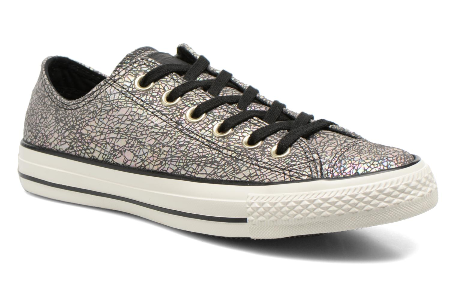 Baskets Converse Chuck Taylor All Star Ox Oil Slick Leather W Argent vue détail/paire