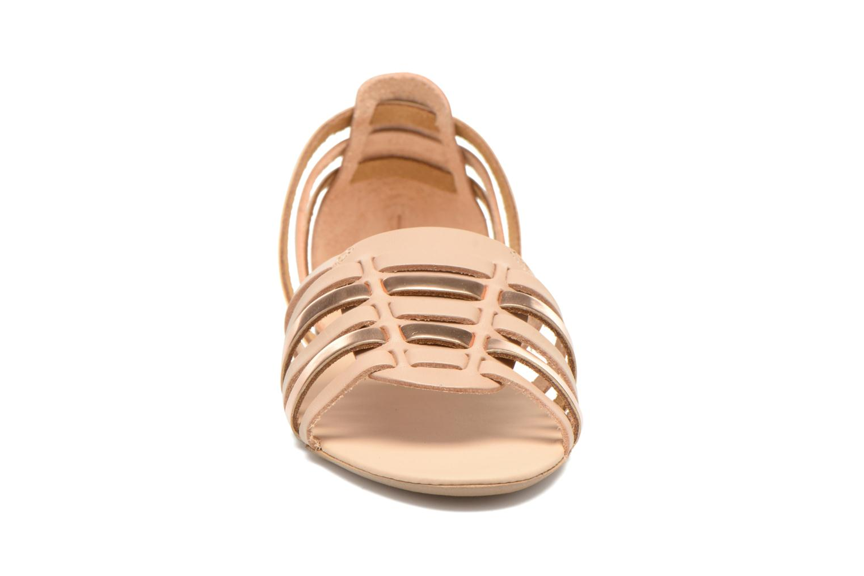 Sandales et nu-pieds I Love Shoes Damuse Beige vue portées chaussures