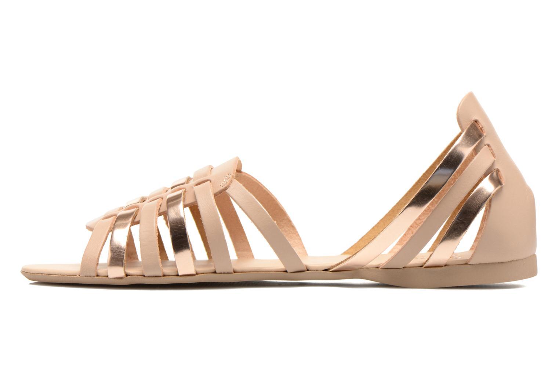 Sandales et nu-pieds I Love Shoes Damuse Beige vue face