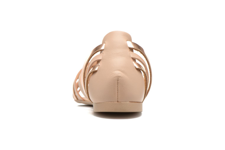 Sandales et nu-pieds I Love Shoes Damuse Beige vue droite