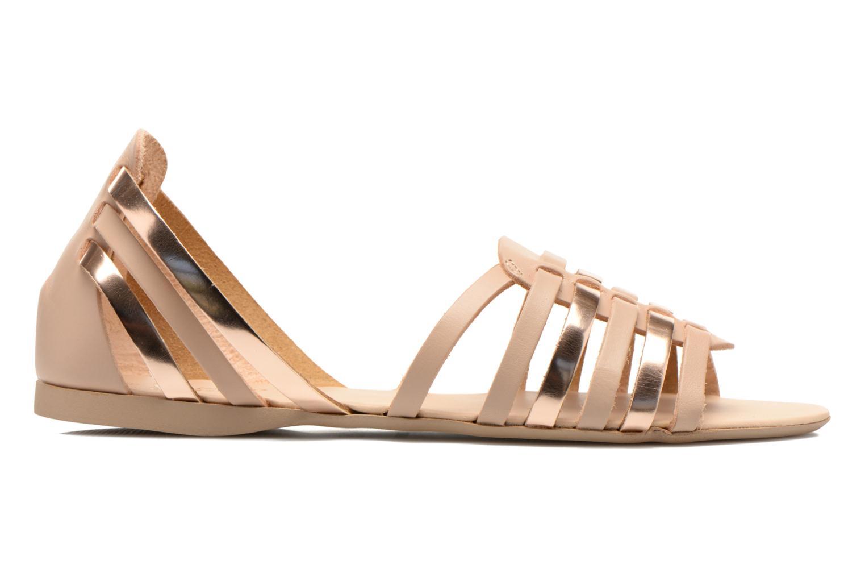 Sandales et nu-pieds I Love Shoes Damuse Beige vue derrière
