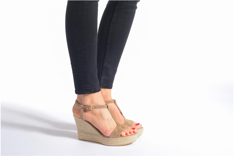 Sandales et nu-pieds Georgia Rose Dalert Noir vue bas / vue portée sac