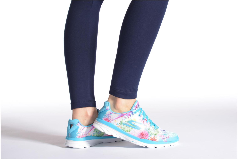 Sportschuhe Skechers Go Fit Tr - Bayrose 14091 blau ansicht von unten / tasche getragen