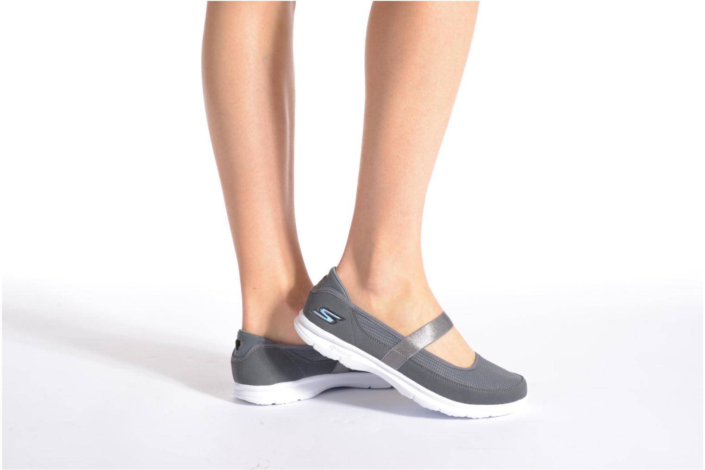 Bailarinas Skechers Go Step - Original 14213 Gris vista de abajo
