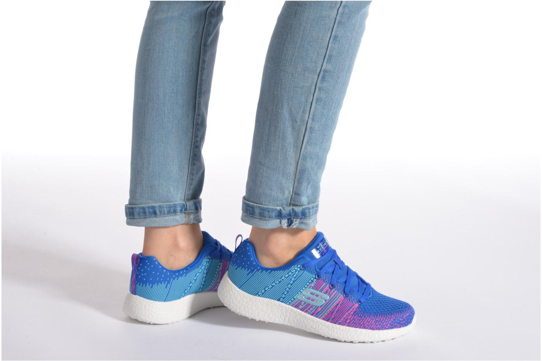 Chaussures de sport Skechers Burst - Ellipse 12437 Bleu vue bas / vue portée sac