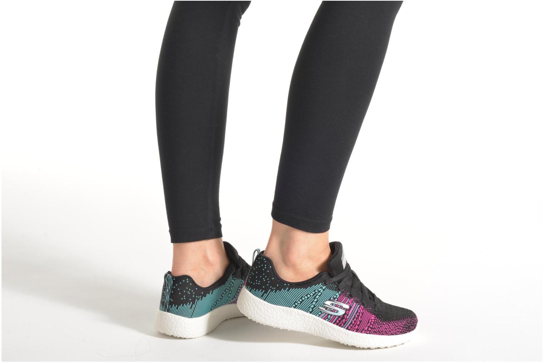 Zapatillas de deporte Skechers Burst - Ellipse 12437 Negro vista de abajo