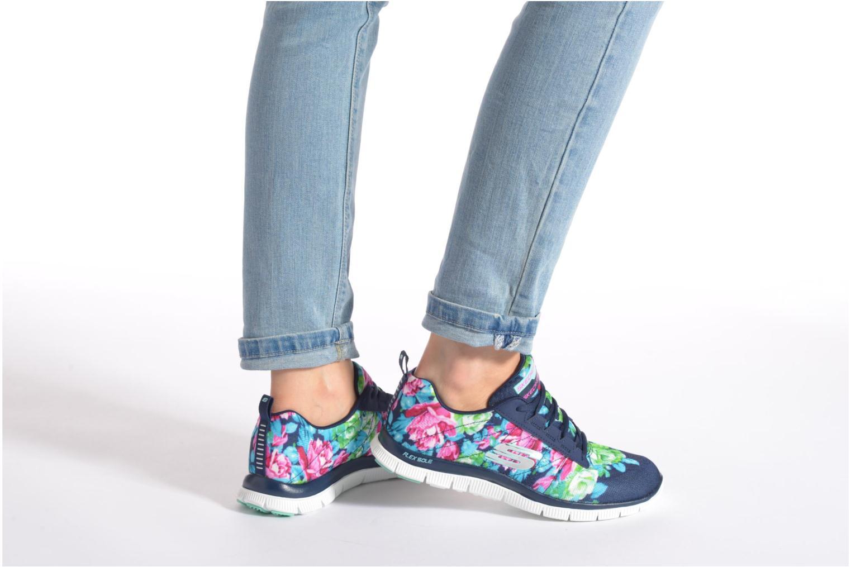 Chaussures de sport Skechers Flex Appeal- Wildflowers 12448 Multicolore vue bas / vue portée sac