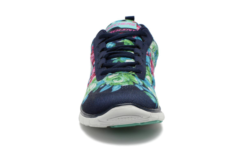 Scarpe sportive Skechers Flex Appeal- Wildflowers 12448 Multicolore modello indossato