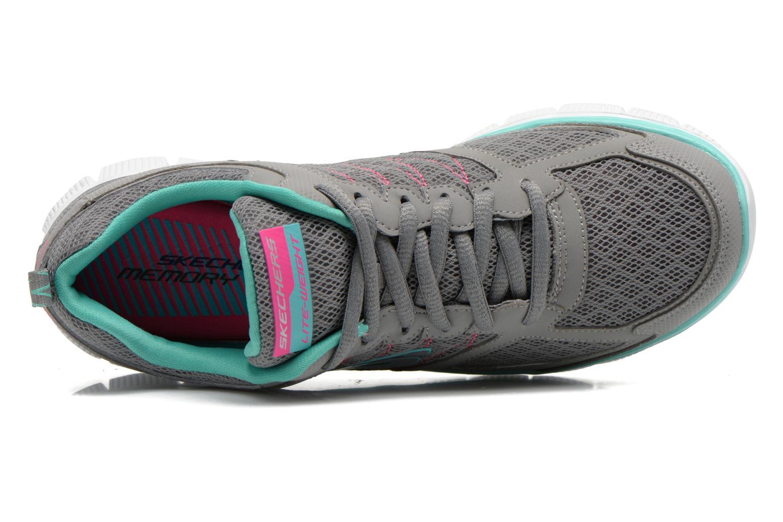 Chaussures de sport Skechers Flex Appeal 12452 Gris vue gauche