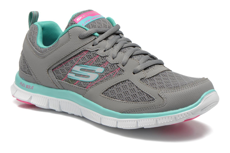 Chaussures de sport Skechers Flex Appeal 12452 Gris vue détail/paire