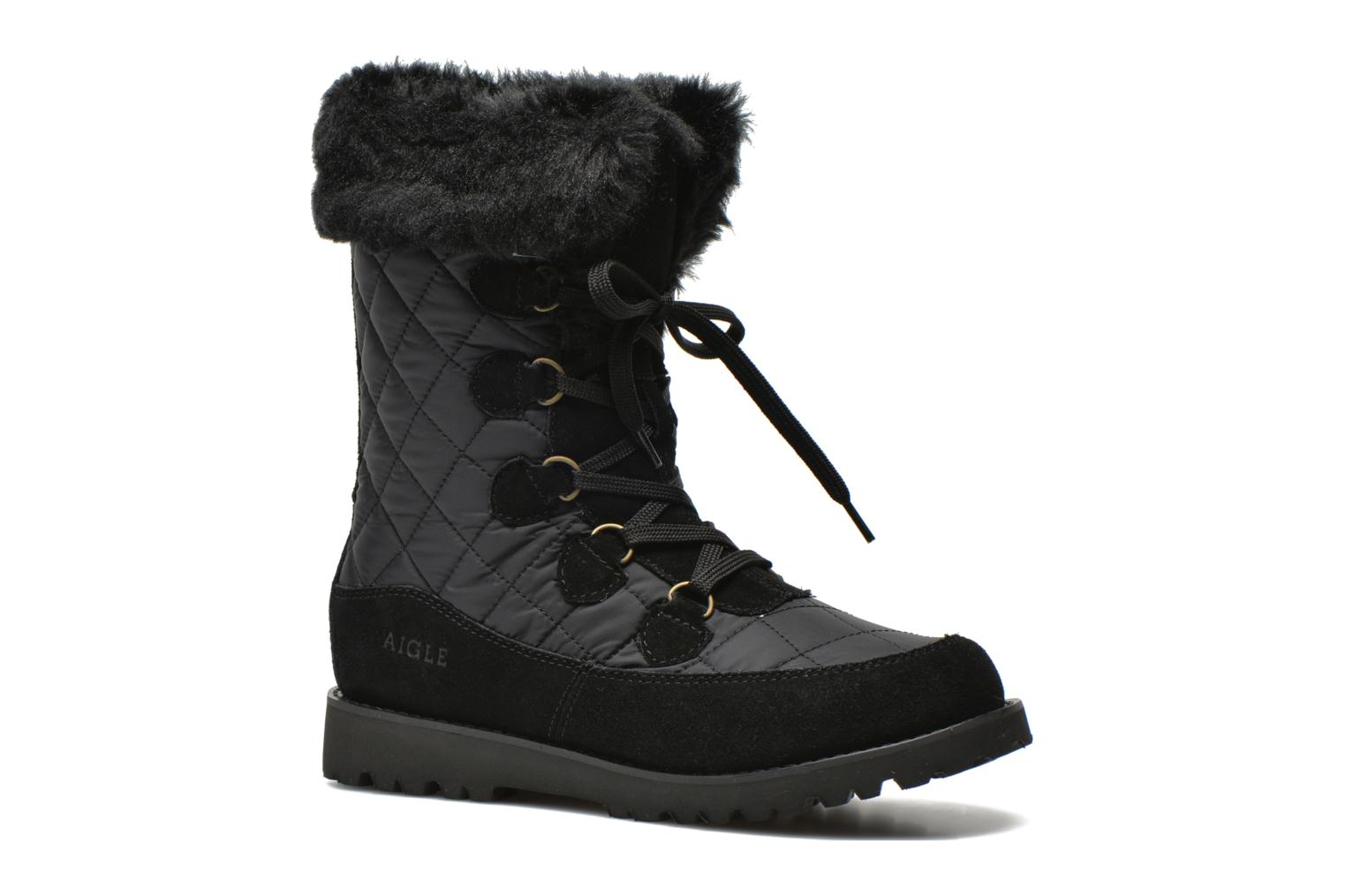 Ankle boots Aigle Lavras Black detailed view/ Pair view