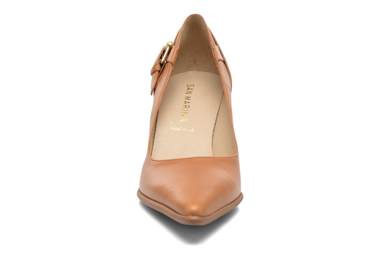 High heels San Marina Actea Brown model view