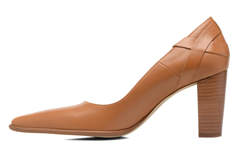 High heels San Marina Actea Brown front view