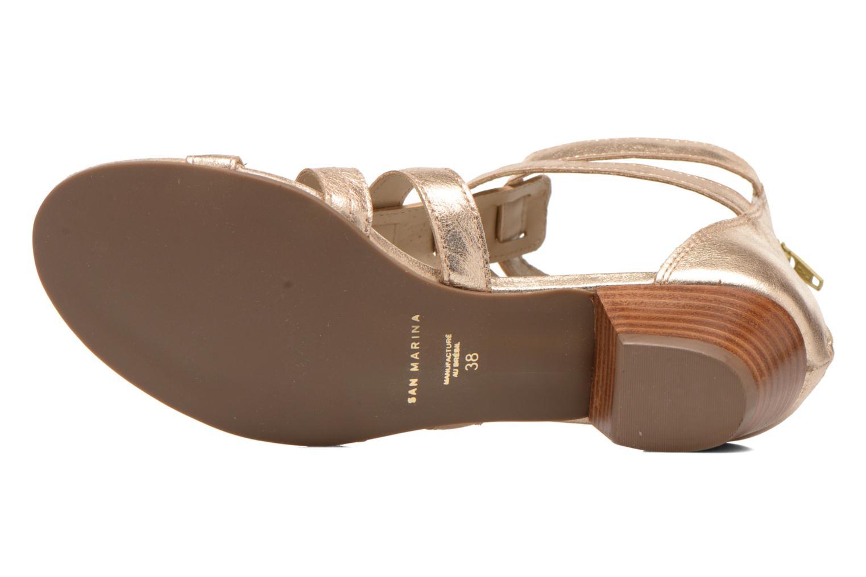 Sandales et nu-pieds San Marina Vurina/Met Or et bronze vue haut