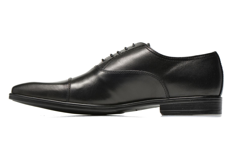 Zapatos con cordones San Marina Regaliz Negro vista de frente