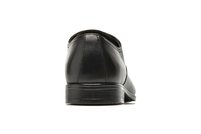Zapatos con cordones San Marina Regaliz Negro vista lateral derecha
