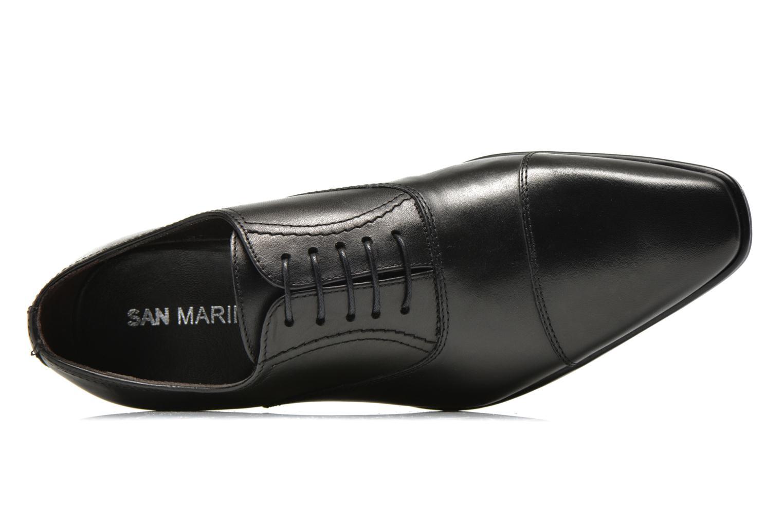 Zapatos con cordones San Marina Regaliz Negro vista lateral izquierda