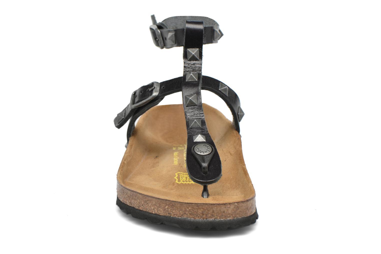 Sandales et nu-pieds Birkenstock Marillia Cuir Noir vue portées chaussures