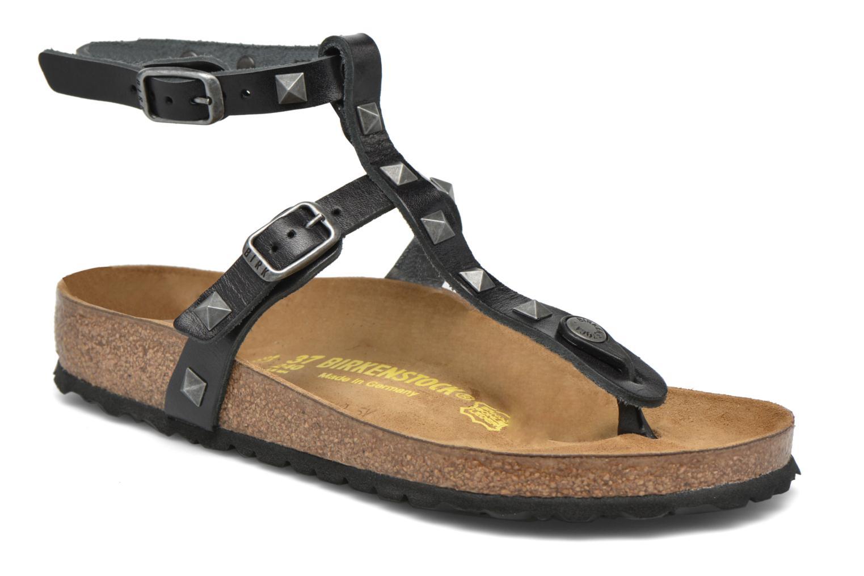 Sandales et nu-pieds Birkenstock Marillia Cuir Noir vue détail/paire