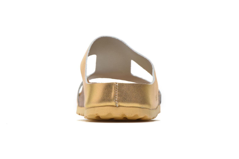 Charlize Cuir W Metallic Gold