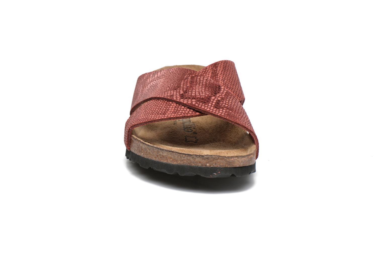 Mules et sabots Papillio Daytona Cuir Nubuck W Rouge vue portées chaussures