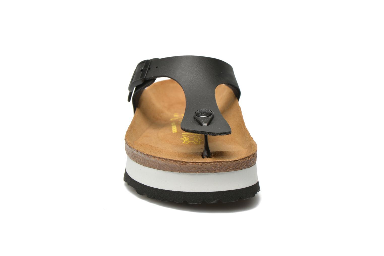 Tongs Papillio Gizeh Flor Platform Noir vue portées chaussures