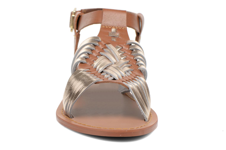 Sandales et nu-pieds André Nirvana Marron vue portées chaussures