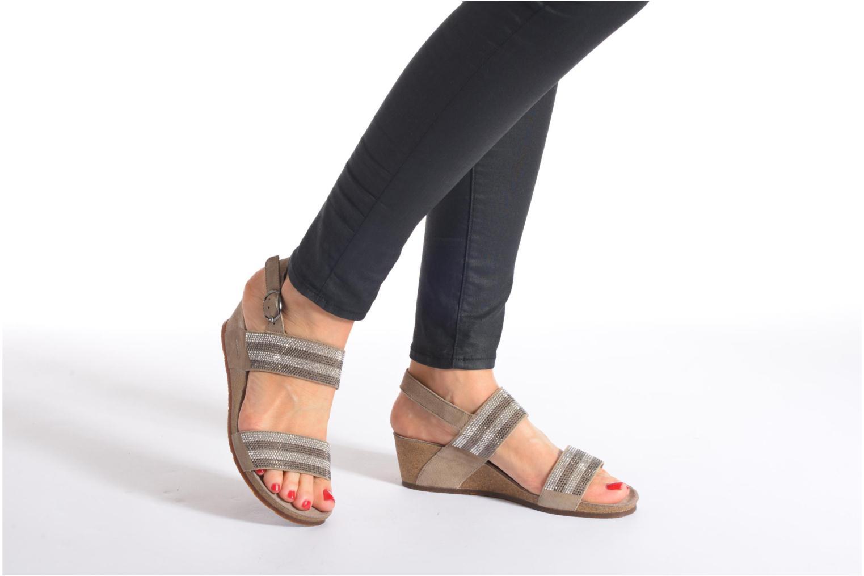 Sandales et nu-pieds Mephisto MAURANE Beige vue bas / vue portée sac