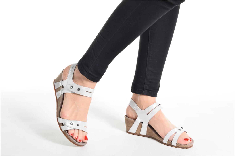 Sandales et nu-pieds Mephisto MINOA Blanc vue bas / vue portée sac