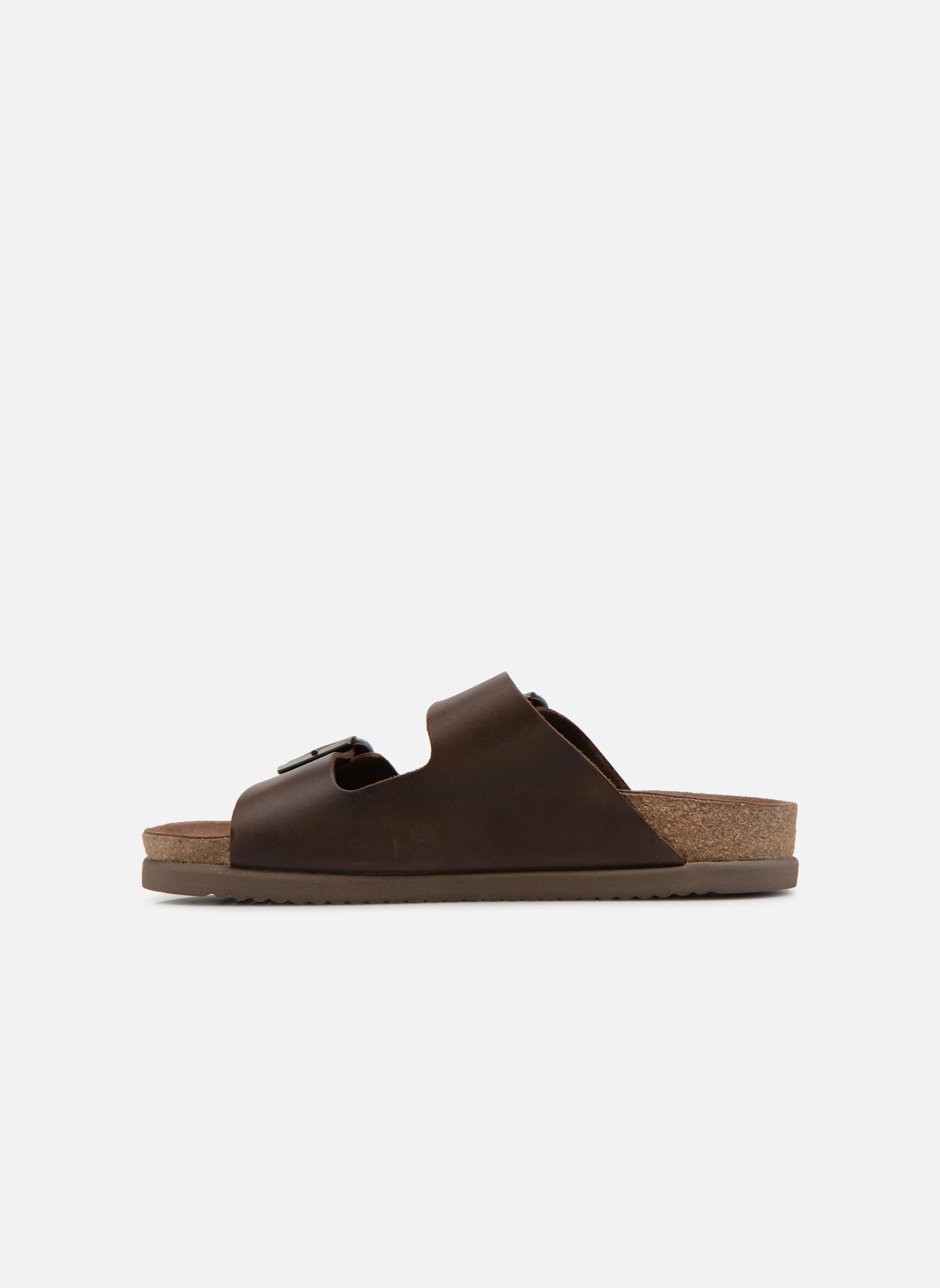 Sandales et nu-pieds Mephisto Nerio Marron vue face