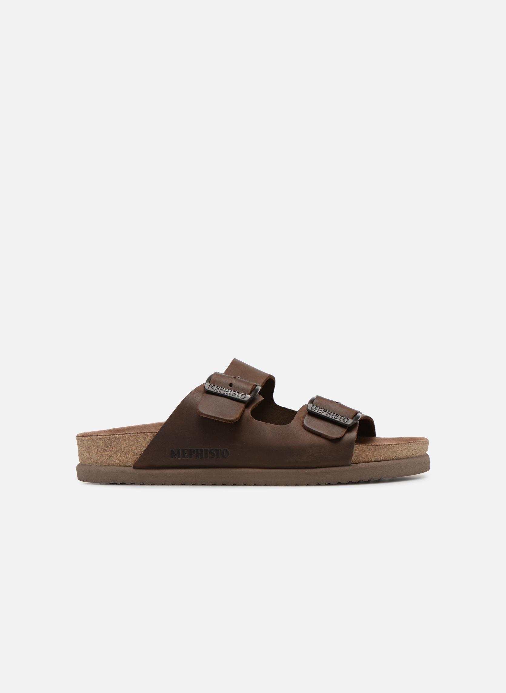 Sandales et nu-pieds Mephisto Nerio Marron vue derrière