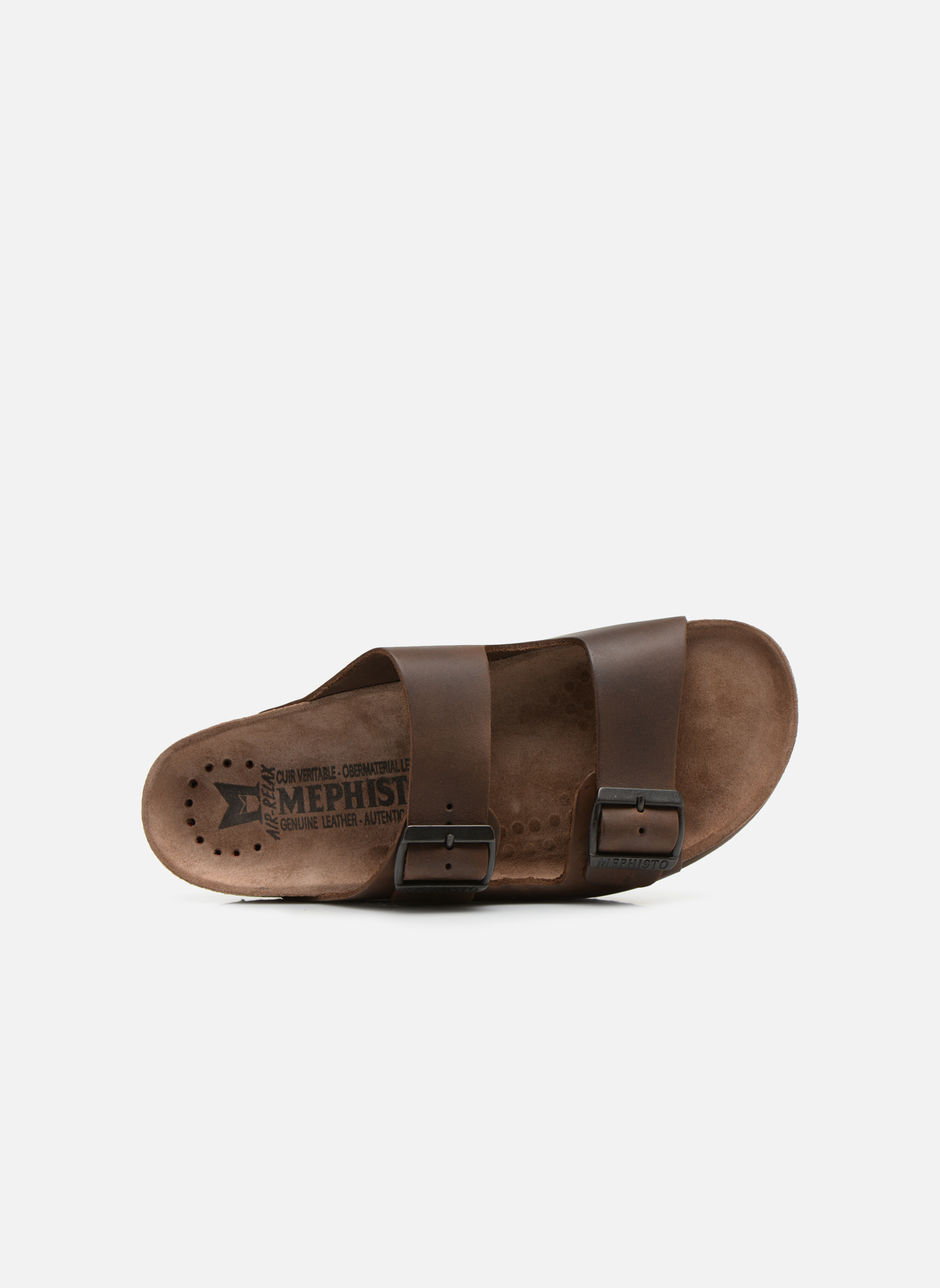 Sandales et nu-pieds Mephisto Nerio Marron vue gauche