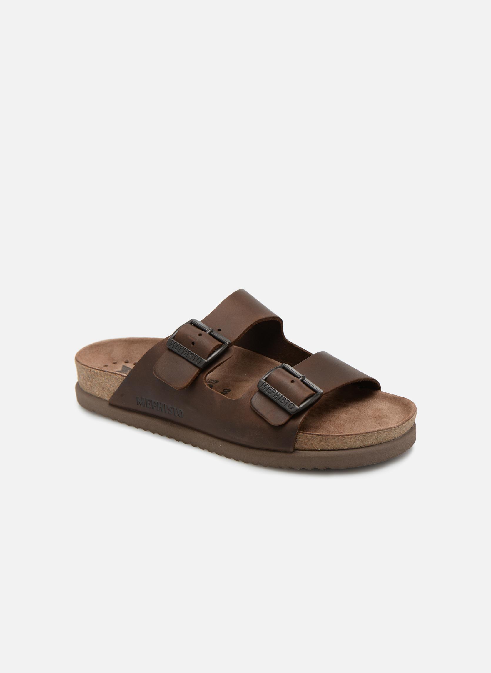 Sandales et nu-pieds Mephisto Nerio Marron vue détail/paire