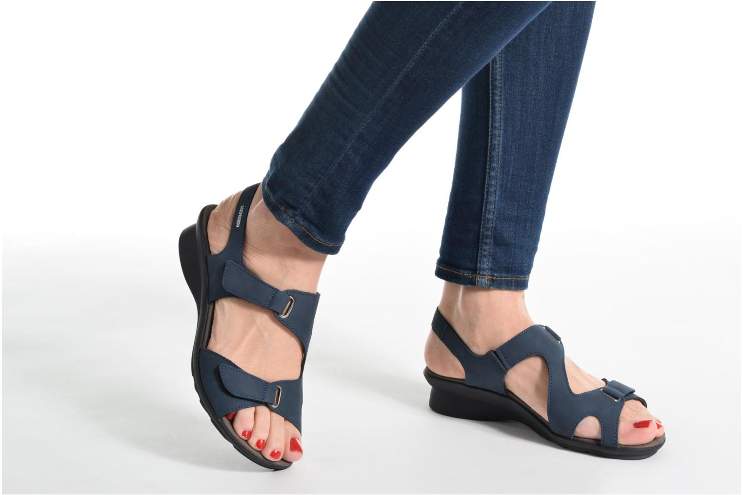 Sandals Mephisto PARIS Blue view from underneath / model view