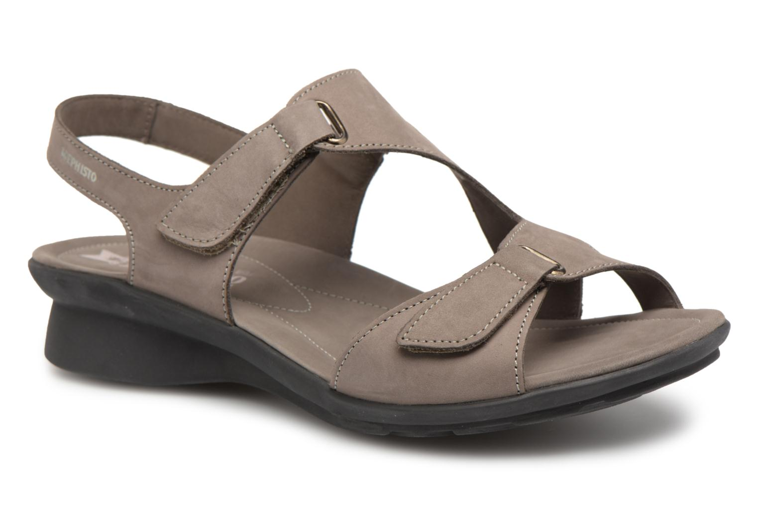 Sandals Mephisto PARIS Grey detailed view/ Pair view