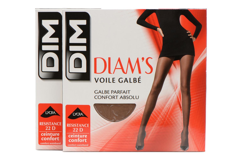 Chaussettes et collants Dim Collant DIAM'S VOILE GALBE Lot de 2 Incolore vue détail/paire