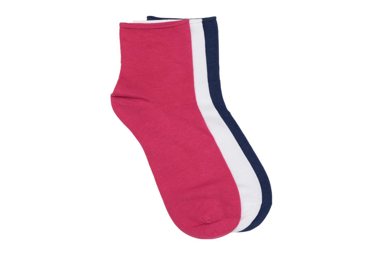 Chaussettes et collants Sarenza Wear Chaussettes courtes unies Pack de 3 Multicolore vue détail/paire