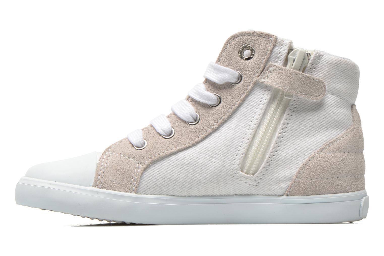 Sneakers Geox B Kiwi Girl B52D5F Bianco immagine frontale
