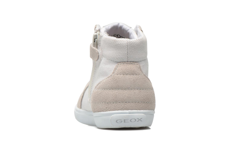 Sneakers Geox B Kiwi Girl B52D5F Bianco immagine destra