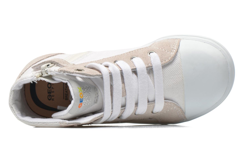 Sneakers Geox B Kiwi Girl B52D5F Bianco immagine sinistra