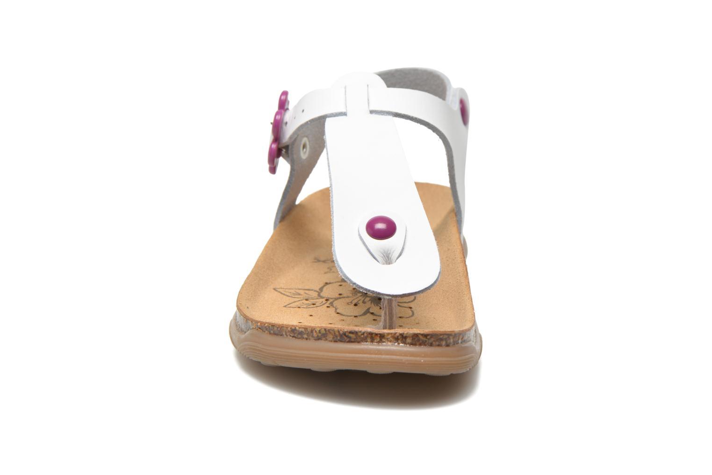 Sandales et nu-pieds Geox JR Sandal Aloha J5214B Blanc vue portées chaussures