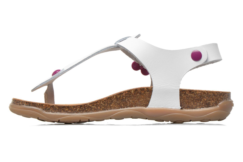 Sandales et nu-pieds Geox JR Sandal Aloha J5214B Blanc vue face