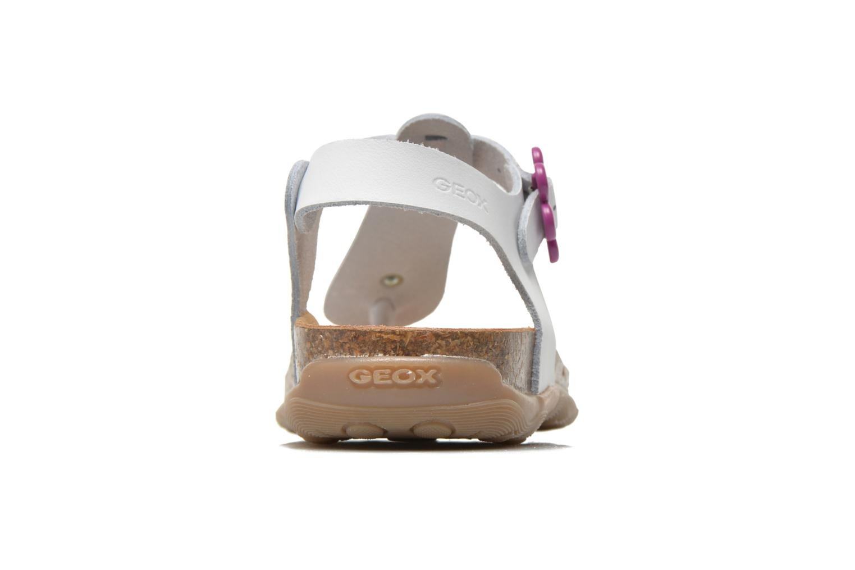 Sandales et nu-pieds Geox JR Sandal Aloha J5214B Blanc vue droite