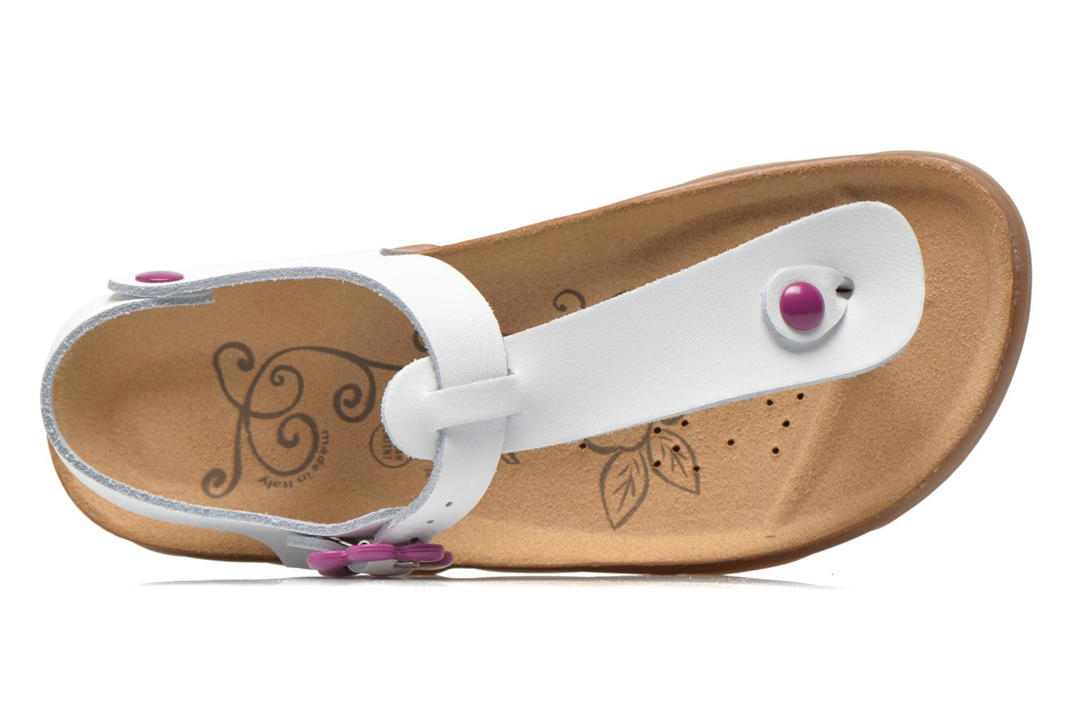 Sandals Geox JR Sandal Aloha J5214B White view from the left