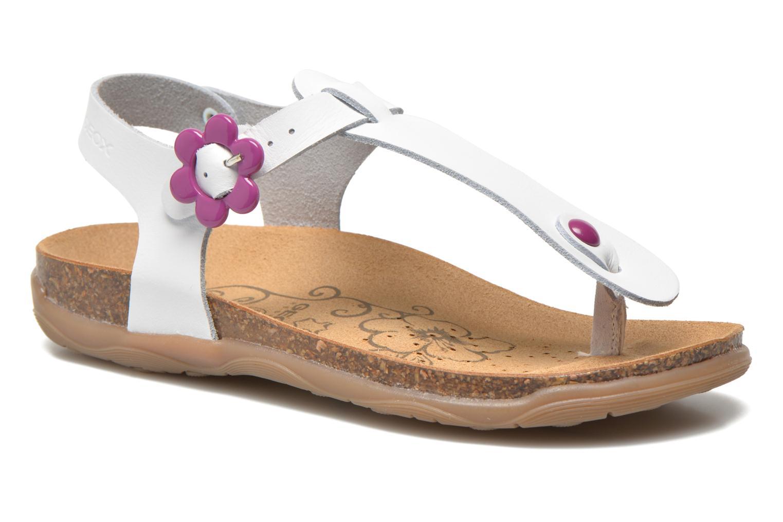 Sandales et nu-pieds Geox JR Sandal Aloha J5214B Blanc vue détail/paire