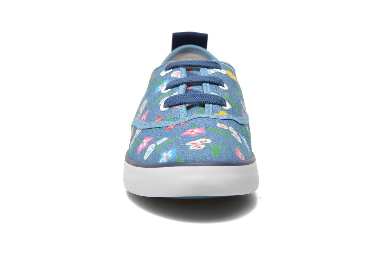 Baskets Geox JR Ciak Girl J5204E Bleu vue portées chaussures