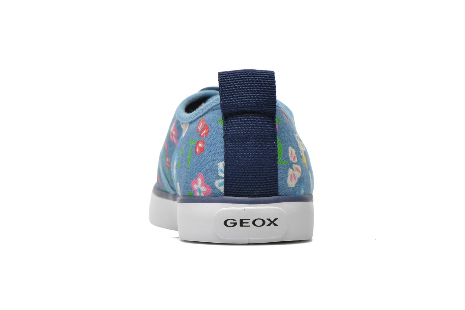 Trainers Geox JR Ciak Girl J5204E Blue view from the right